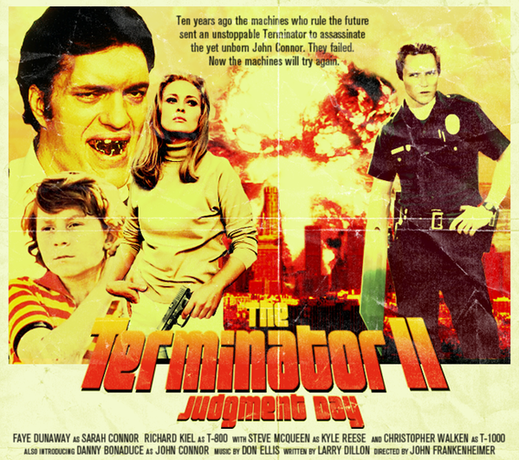 Como seria o filme Exterminador do Futuro II se tivesse sido filmado várias décadas atrás