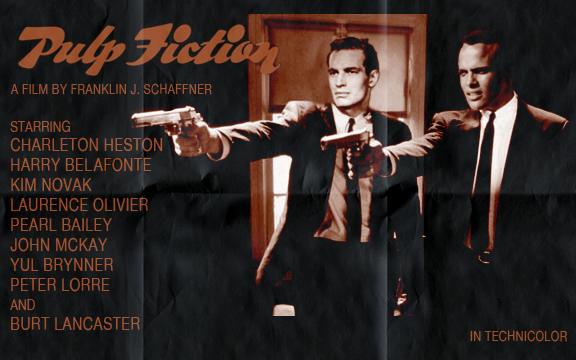 Filme Pulp Fiction - Tempo de Violência se tivesse sido filmado várias décadas atrás